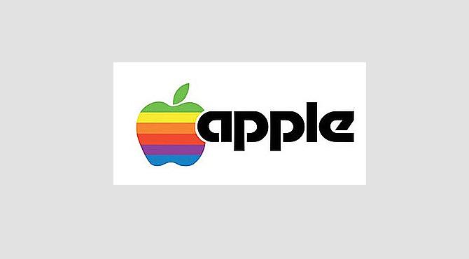 Оригинал логотипа Apple computers 1977 год. Дизайнер Роб Джанофф.