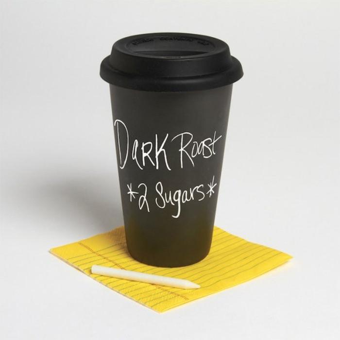Черный стаканчик для кофе