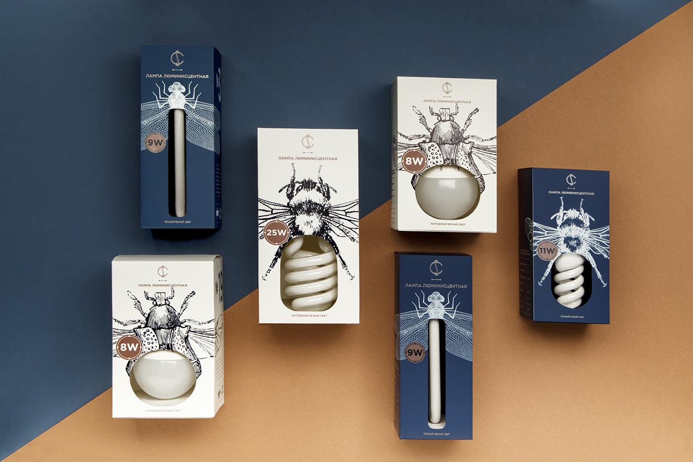 Дизайн упаковки лампочки